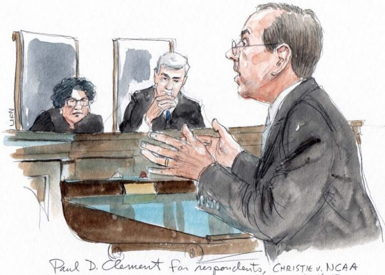 Inside the Supreme Court during Christie v NCAA oral argument