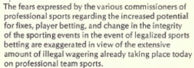 Overview of the 1976 Commission on the Review of the National Policy Toward Gambling, And Congressional Calls for Sports Betting Hearings
