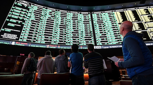 sportsbook odds board