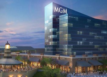 A rendering of an MGM Bridgeport property