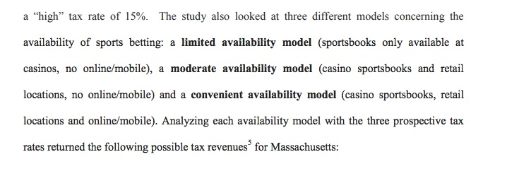 Massachusetts Releases Comprehensive Review of State's Sports Betting Opportunity, Possible Tax Rate(s), Industry Players, Online and Mobile Sports Betting