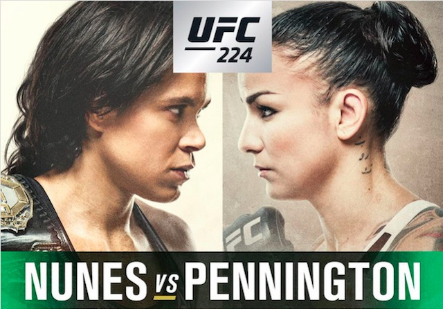 UFC 224: Nunes vs. Pennington, Preview, Betting Picks: Nunes vs. Pennington, Souza vs. Gastelum, Okeinik vs. Albini and more