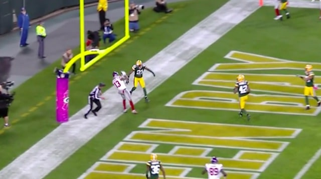 odell beckham jr touchdown giants packers in october 2016