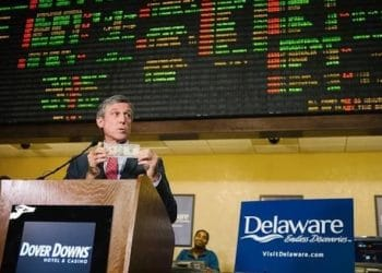 delaware legal sports betting after one month governor jay carney placed first bet