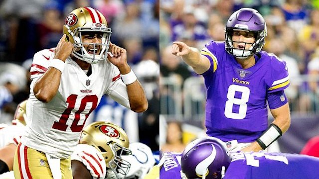 nfl week 1 betting 49ers vikings steelers browns