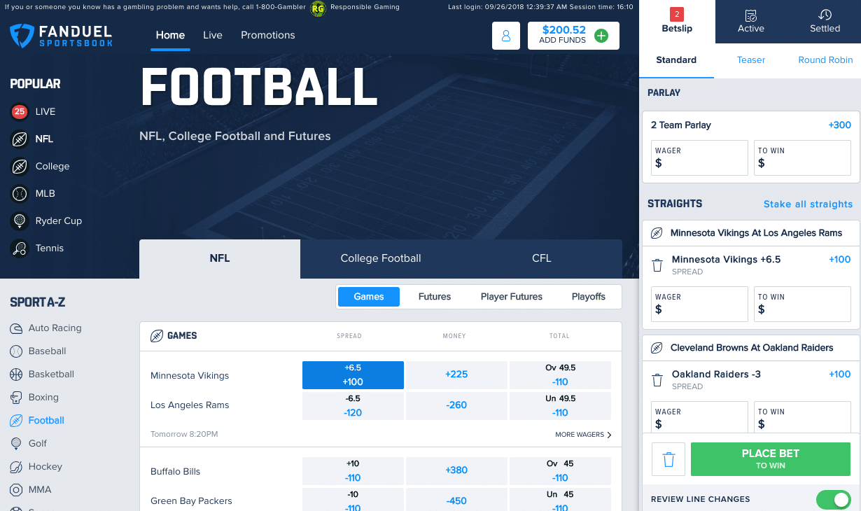 fanduel sportsbook deposit methods