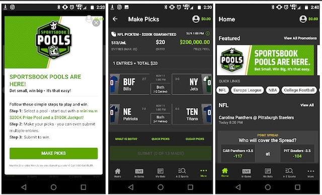 draftkings sportsbook pool