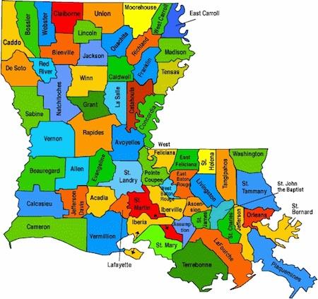 lousiana dfs legalized parishes