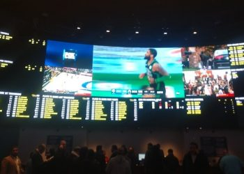 The William Hill sportsbook at Ocean Resort Casino in Atlantic City, New Jersey