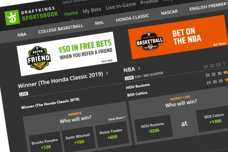 How to place a bet on draftkings nfl betting odds money lines