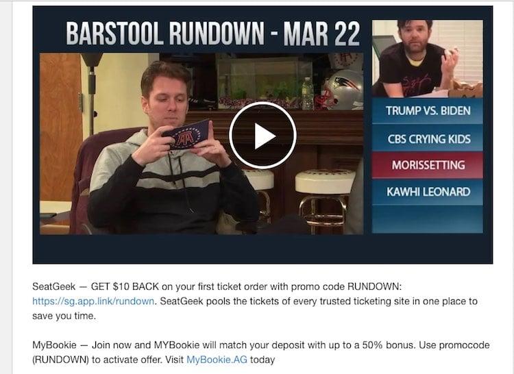 Barstool Sports Declares War Against Offshore Sportsbook