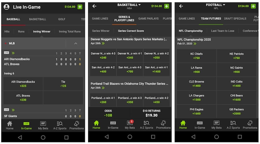 draftkings sportsbook online mobile