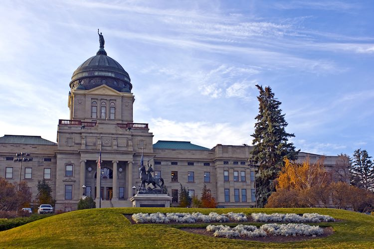 Montana Capitol Building in Downtown Helena