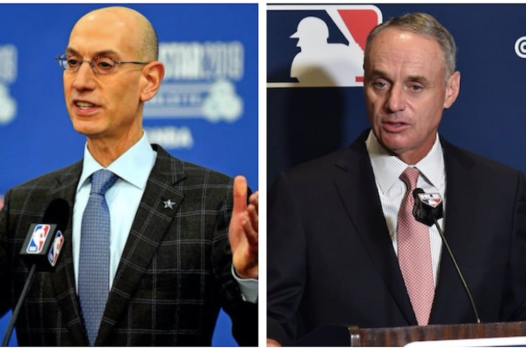 Adam Silver (L), Rob Manfred (R) (USA Today Sports Images)