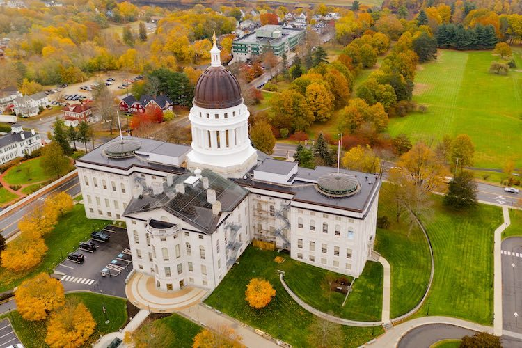 State House of Maine in Augusta (Shutterstock)