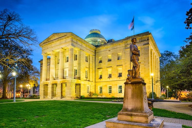 North Carolina capitol building (Shutterstock)