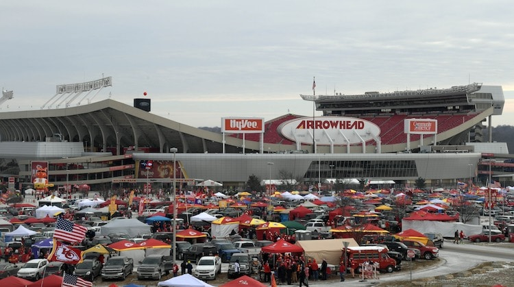 Jan 20, 2019; Kansas City, MO, USA; View of the stadium exterior before the AFC Championship game between the Kansas City Chiefs and the New England Patriots at Arrowhead Stadium. Mandatory Credit: Kirby Lee-USA TODAY Sports