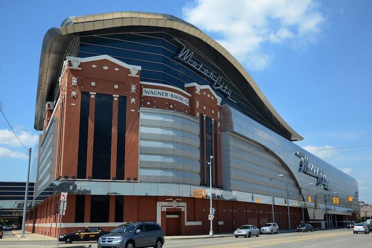 The MotorCity casino, shown here Detroit, MI (Shutterstock)