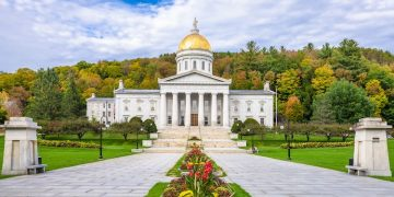 The Vermont State House in Montpelier, VT