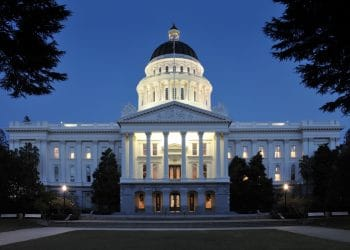 State Capitol Building in Sacramento, California at Twilight (Shutterstock)