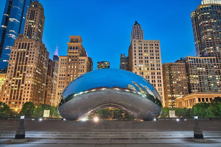 Illinois' Millennium Park (Shutterstock)