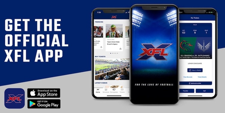 (XFL mobile app for Android)