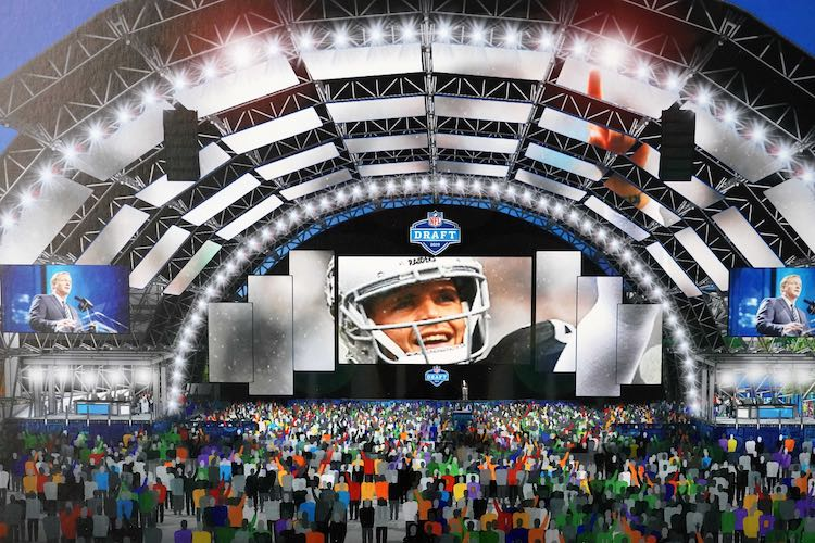 An artist's rendering of the NFL Draft in Las Vegas, that could have been. Of course, things will go a bit differently (USA Today Images)