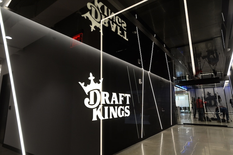 DraftKings' stock has more than doubled since its April IPO with pro sports set to return from a lengthy break.  (Photo by Darren McCollester/Getty Images for DraftKings)