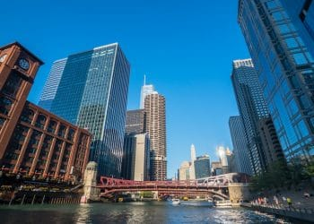 Downtown Chicago landmarks at sunny day time (Shutterstock)