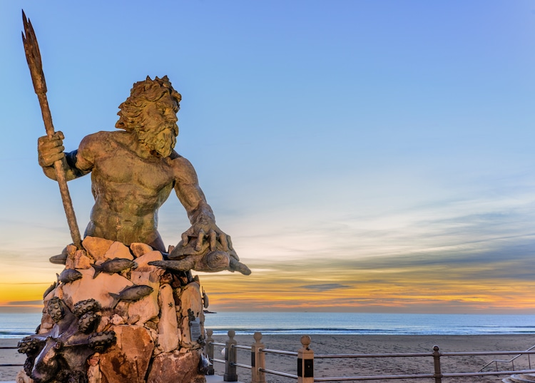 Statue of King Neptune in Virginia Beach