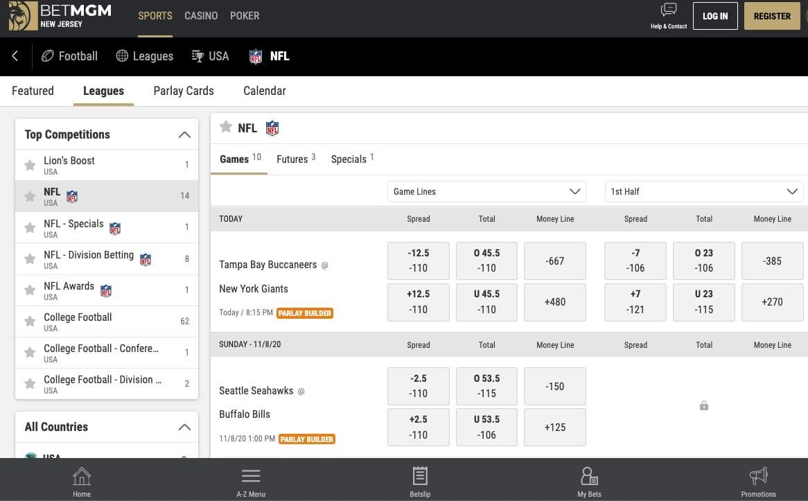betmgm online sportsbook