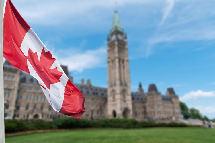 canada parliament flag