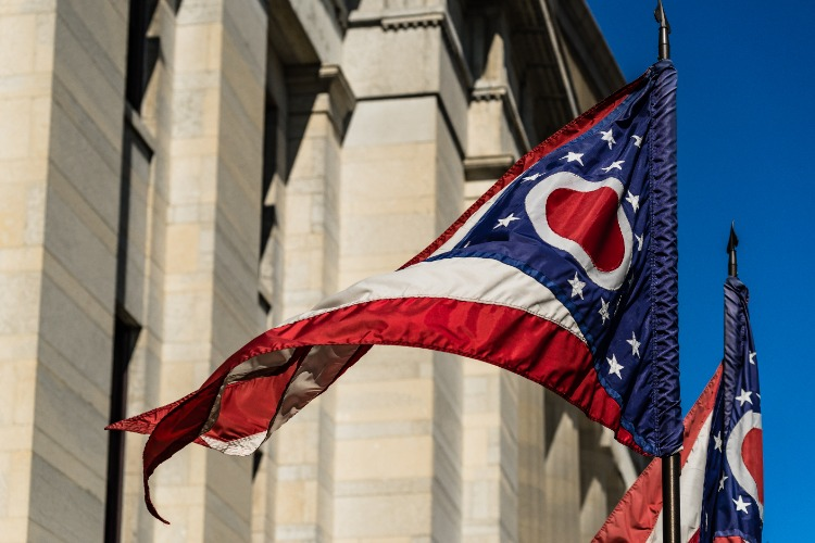Ohio-State-Flag-in-Breeze