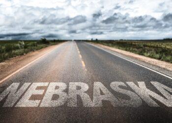 Nebraska-painted-on-road