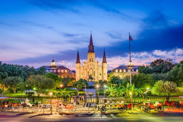 New-Orleans-Jackson-Square-Sunset