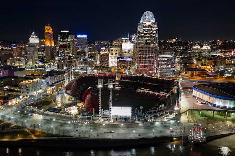 Aerial photo of the Paul Brown Stadium