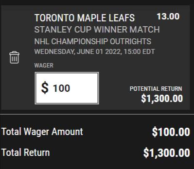 ProLine Maple Leafs 22 Futures