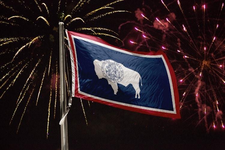 Wyoming-Flag-Fireworks